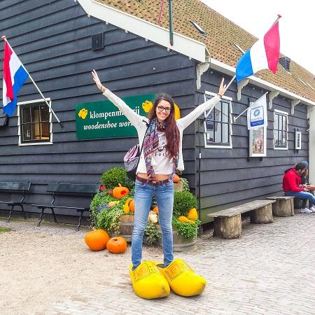 Girl in Zaanse Schans, Netherlands