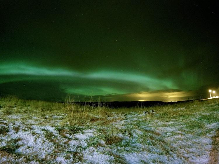 Aurora Borealis in Iceland during winter