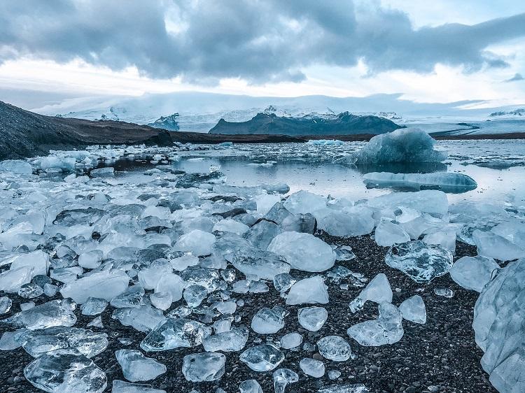 Jokulsarlon Lagoon Iceland during winter