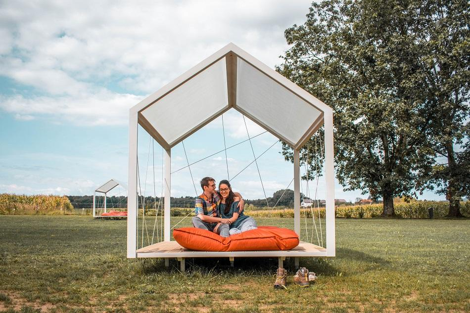 Luxury glamping at Big Berry Slovenia garden