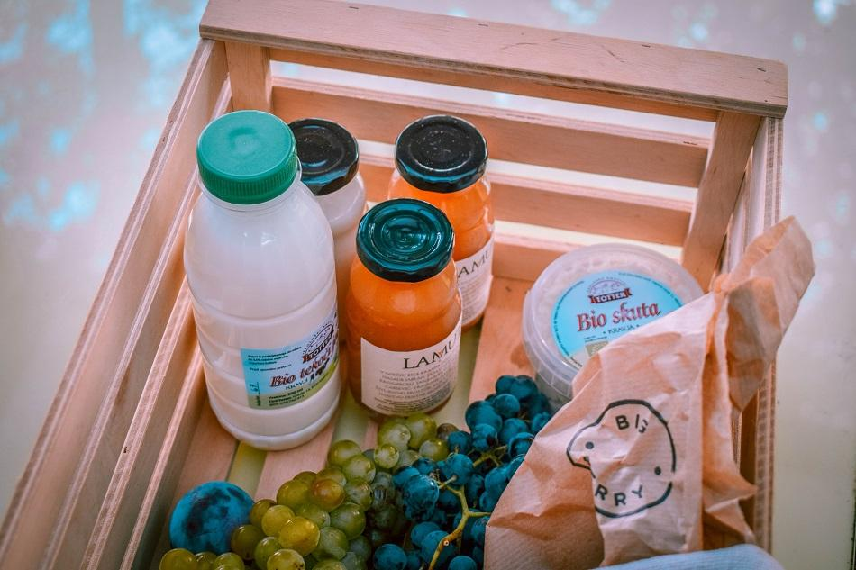 Luxury glamping at Big Berry Slovenia breakfast basket