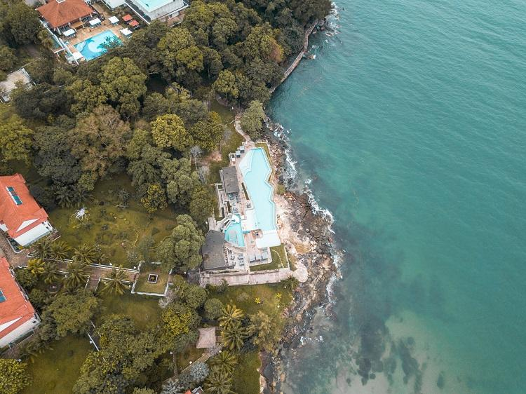 Drone shot at Independence Hotel Sihanoukville
