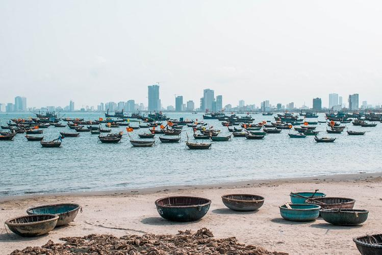 fishing boats in Da Nang, Vietnam