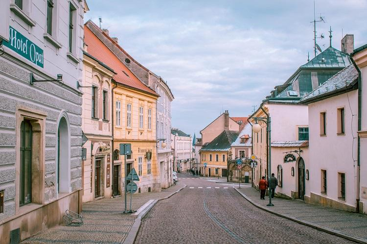 empty street in Kutna Hora