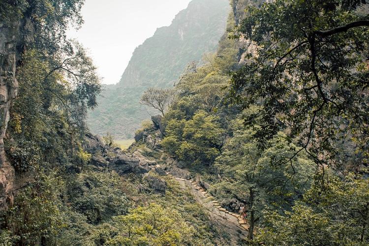 View from Bich Dong Pagoda Ninh Binh