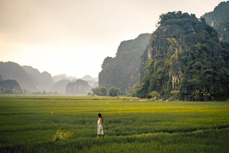 Road to Bich Dong Pagoda Ninh Binh Province
