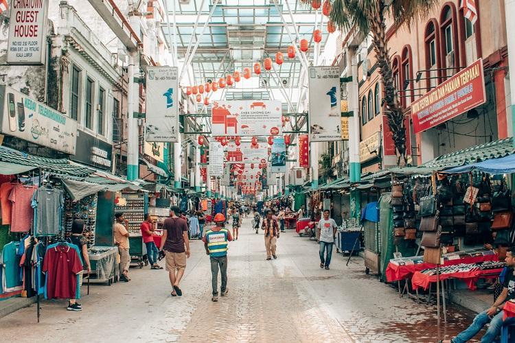 Chinatown street in Kuala Lumpur