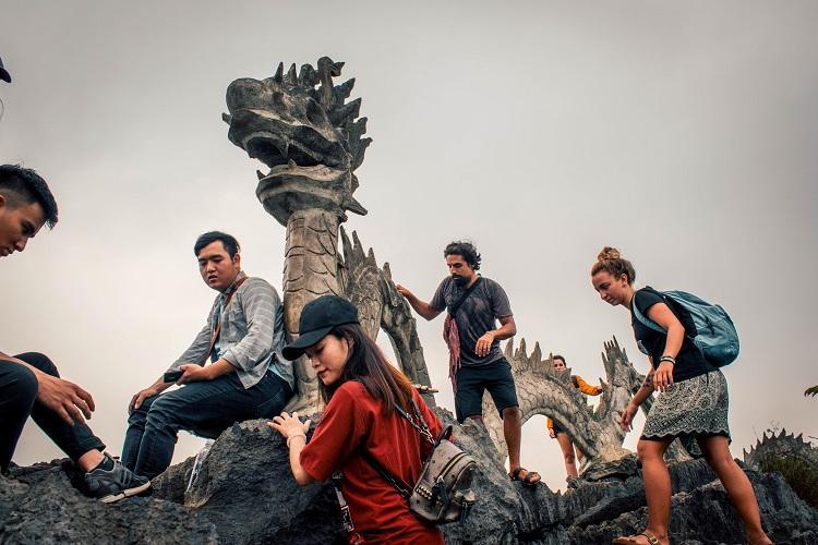 Hang Mua Cave stone dragon