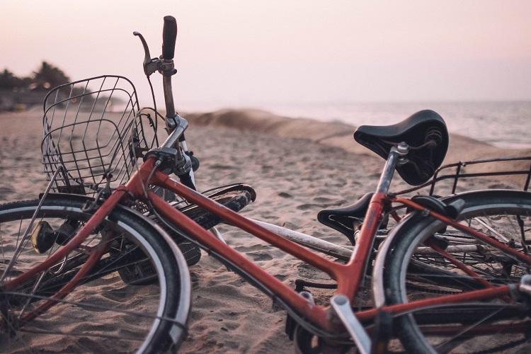 Hoi An beach at sunset
