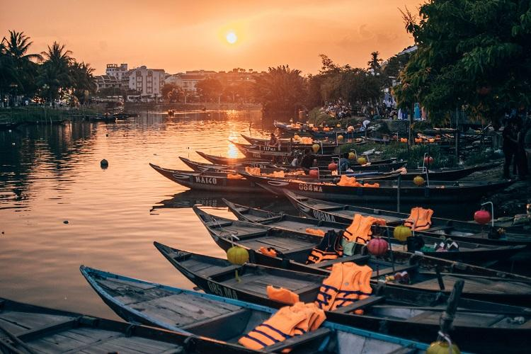 Hoi An orange sunset