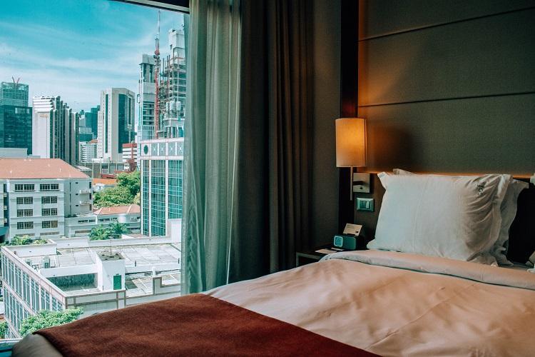 Holiday Inn Express Clarke Quay Singapore room interior
