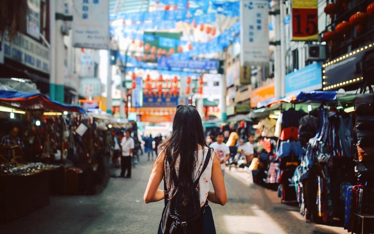 Chinatown shops in Kuala Lumpur