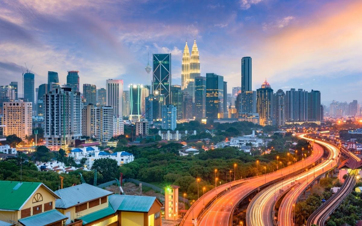 Traffic and buildings in Kuala Lumpur
