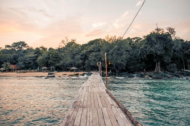 Long Beach Koh Rong at sunset