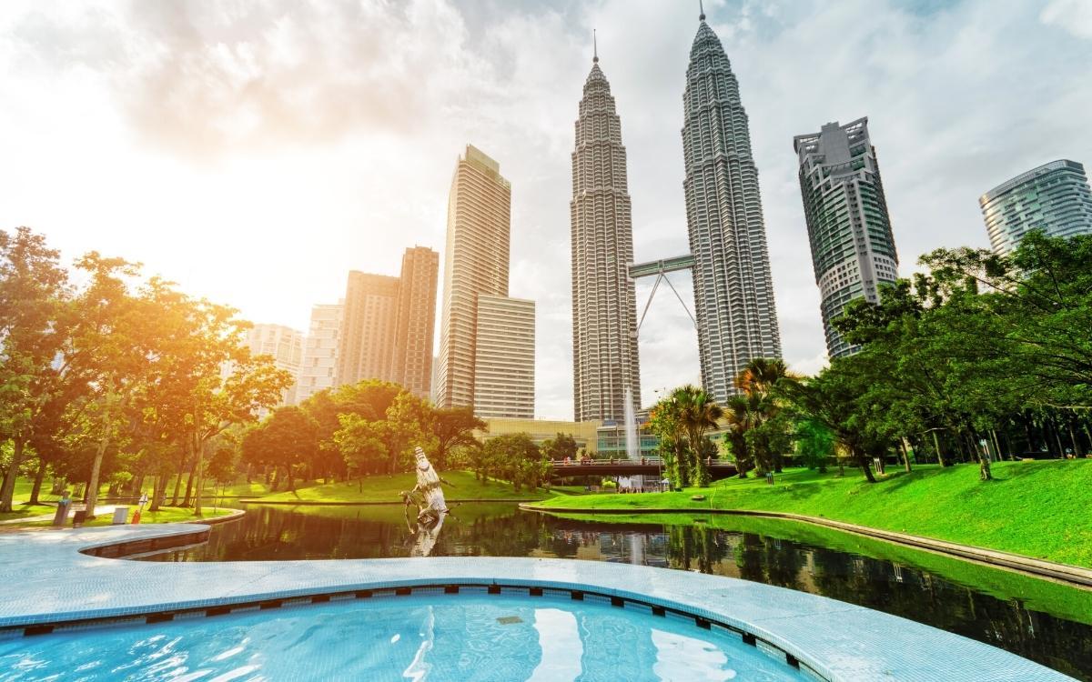 Petronas Twim Towers seen from KLCC park