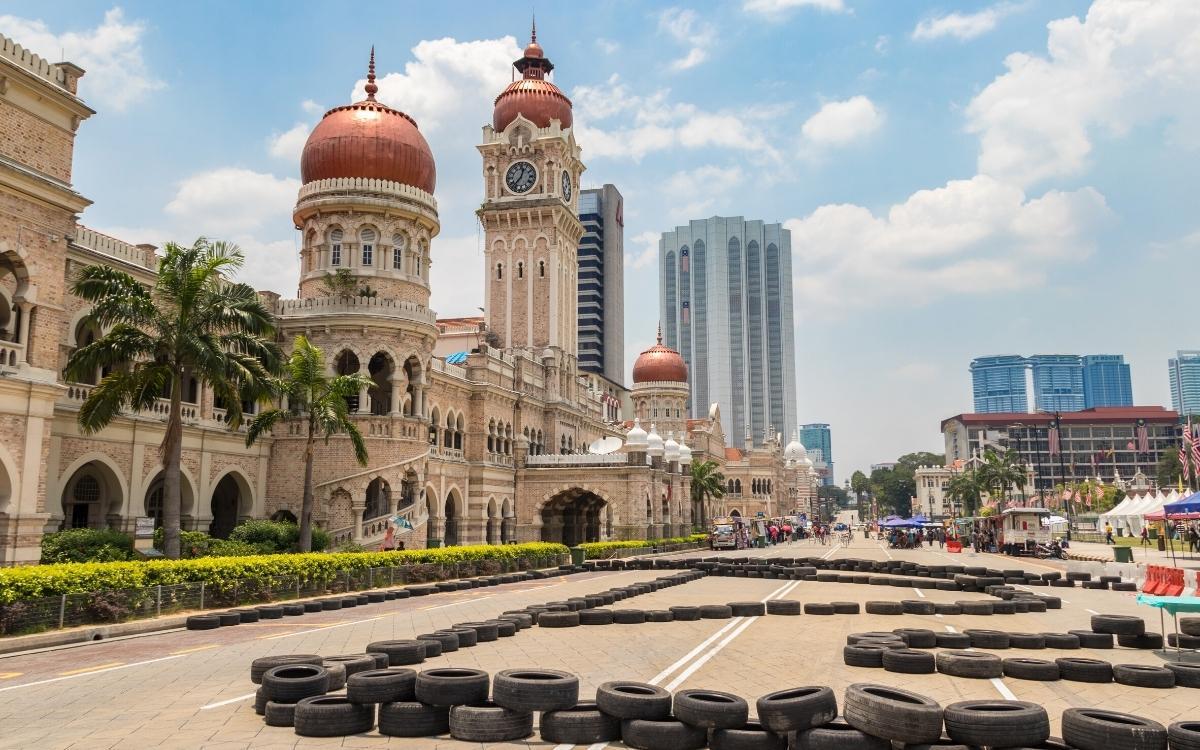 Sultan Abdul Samad Building view from Merdeka Square in Kuala Lumpur