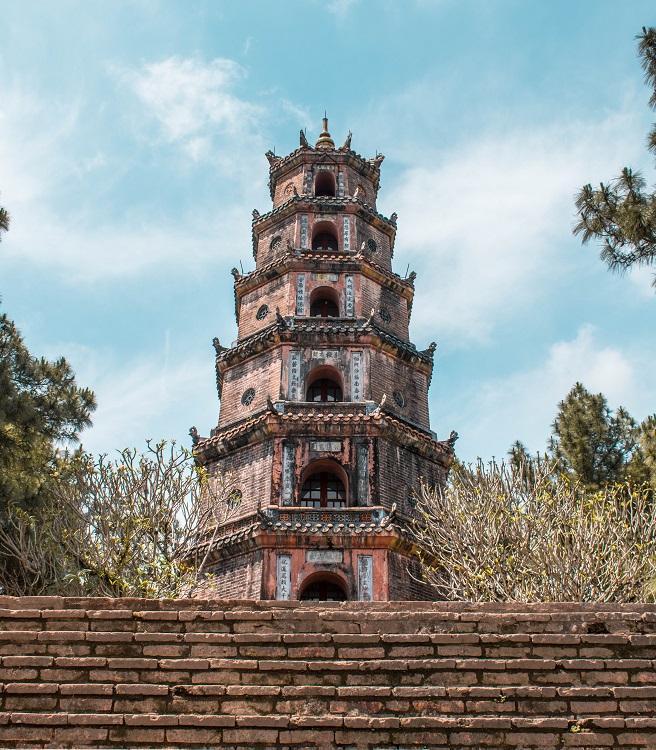 Thien Mu Pagoda front view