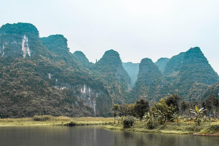 Trang An limestone mountains in Ninh Binh Province