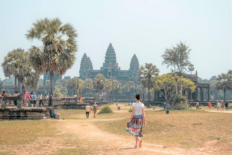 Front view of Angkor Wat