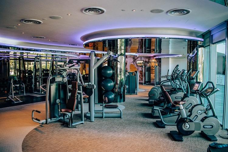 W Singapore Sentosa Cove Hotel fitness room with stationary bicycles