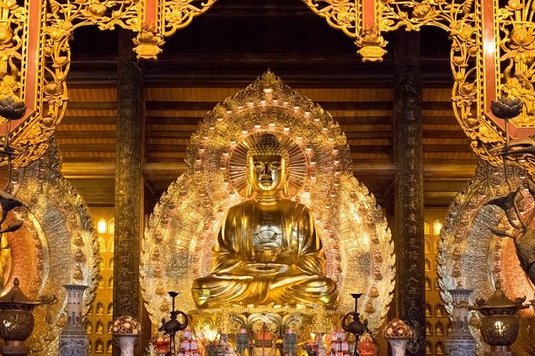 Bai Dinh Pagoda interior in Ninh Binh