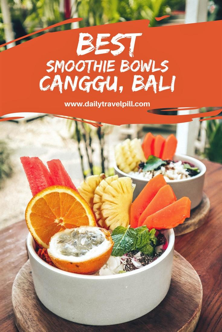 the best smoothie fruit bowls in Canggu, Bali