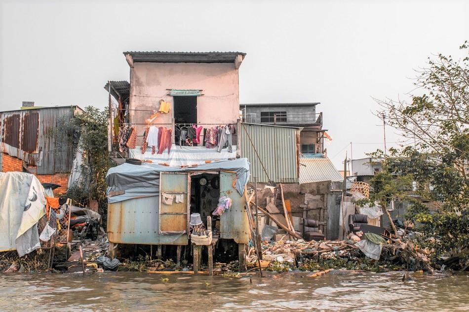 House at Mekong River Cai Rang floating market