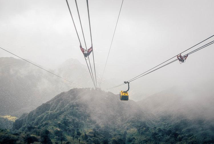 View from Fansipan cable car Sapa