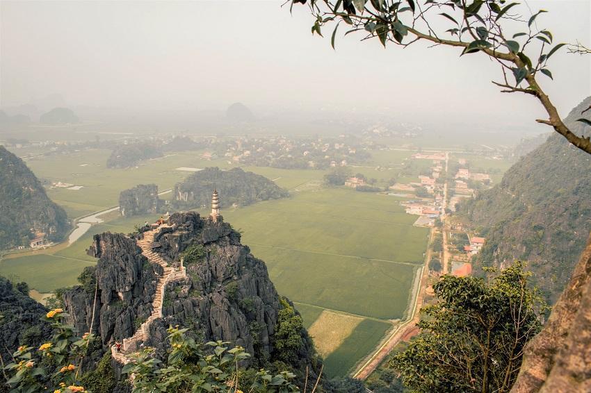 the best view in Ninh Binh at Hang Mua Peak