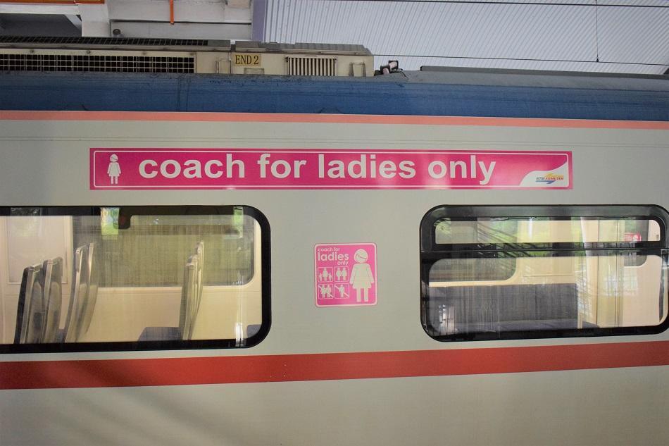 Train carriage from Kuala Lumpur to Batu Caves
