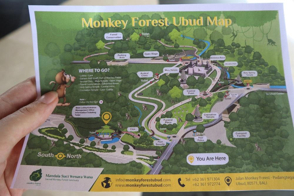 Sacred Monkey Forest Sanctuary Ubud map