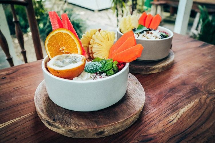 The Shady Shack Bali smoothie fruit bowl