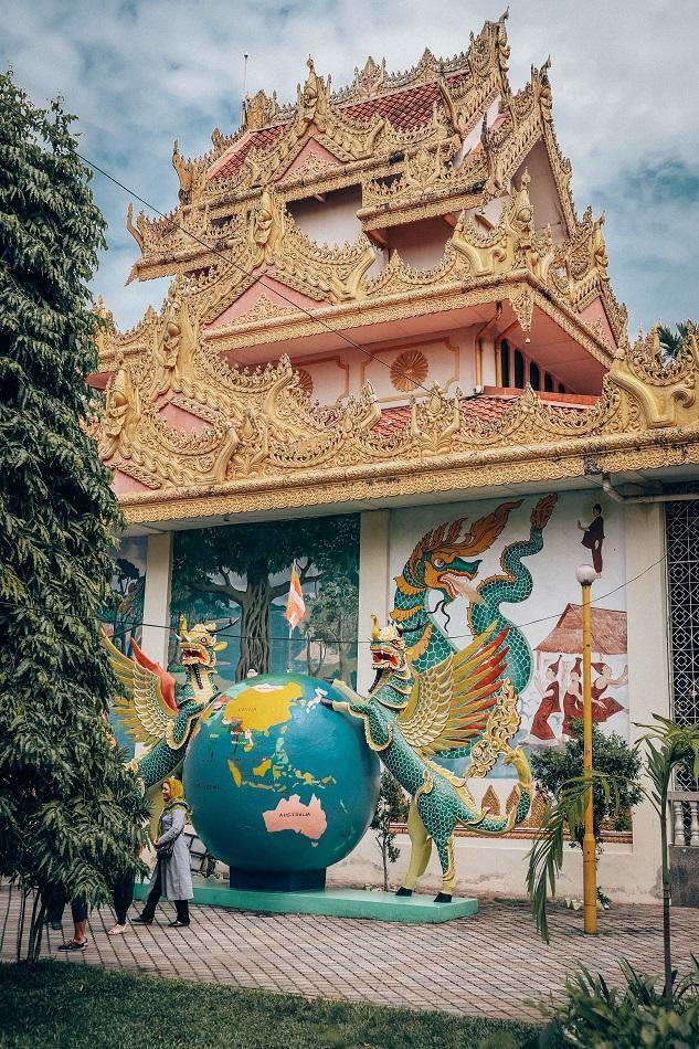 Dhammikarma Burmese Temple in George Town, Penang