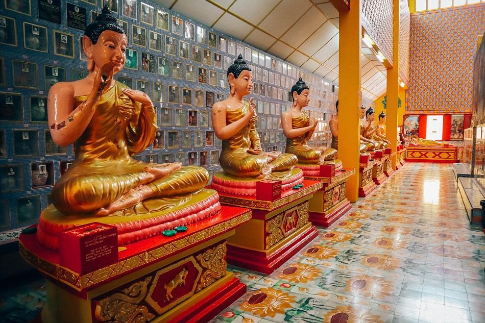 Wat Chaiyamangalaran Thai Buddhist Temple in George Town, Penang