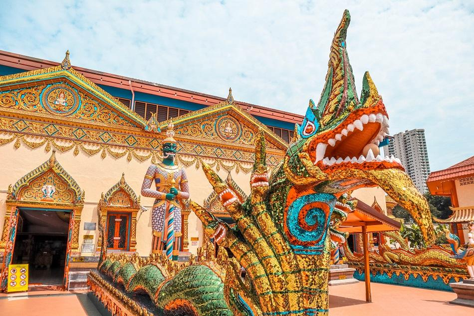 Wat Chaiyamangalaran Thai Buddhist Temple in George Town, Penang - what to do in Penang itinerary