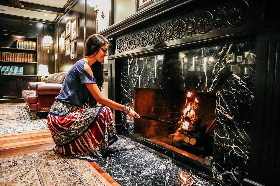 Fireplace Lightning Ceremony at Cameron Highlands Resort