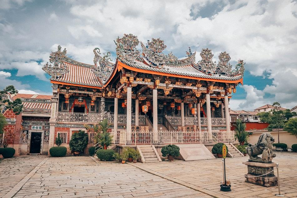 Khoo Kongsi Chinese Buddhist temple clanhouse in George Town, Penang