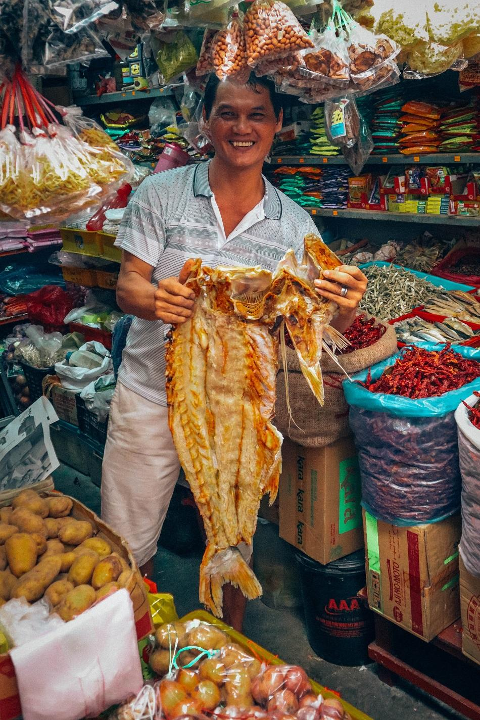 kristang culinary journey with Chef Melba at The Majestic Malacca - visiting a local market