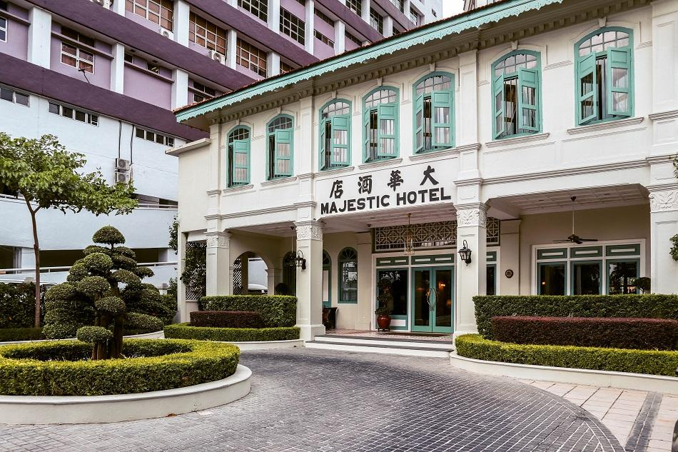 The Majestic Malacca Hotel entrance, facade