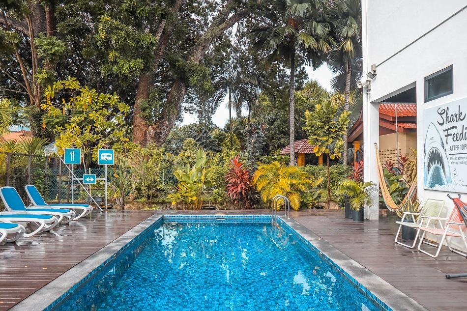 The Rucksack Caratel Garden Wing pool
