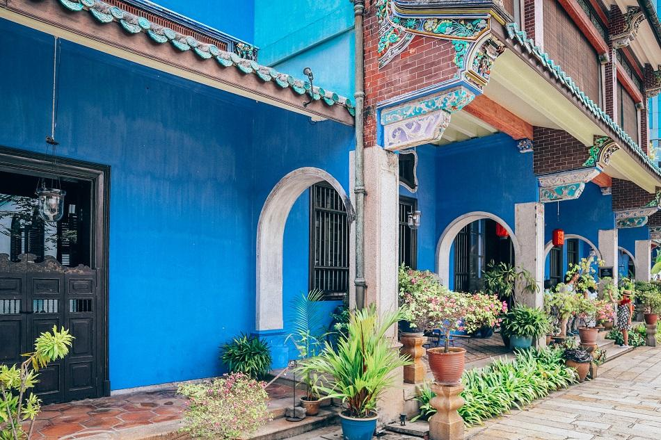 Blue Mansion front door Penang
