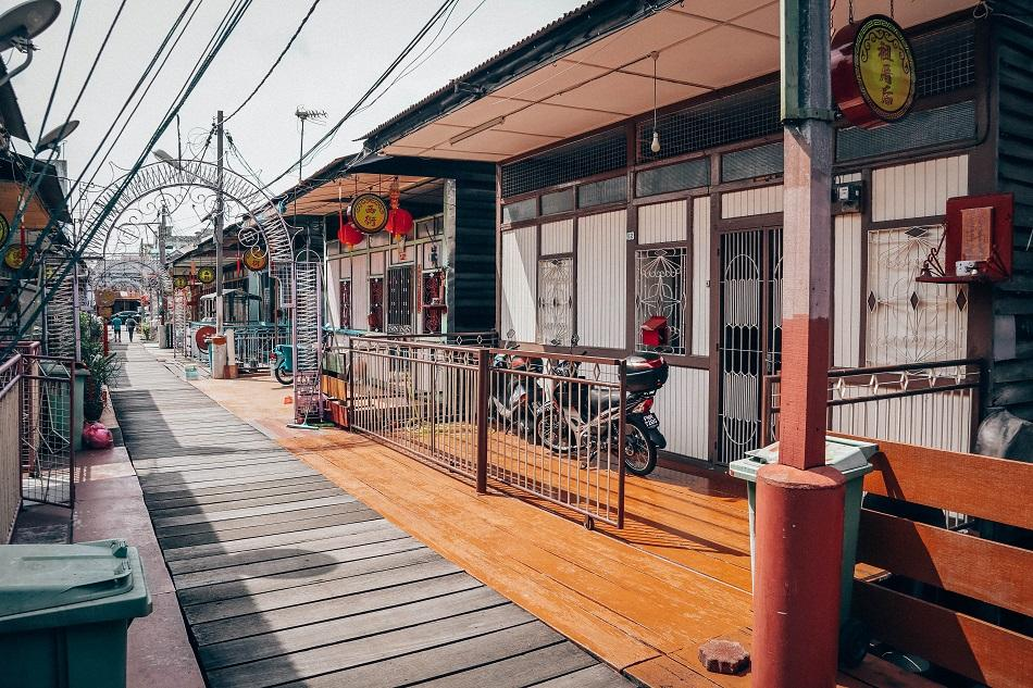 Clan Jetties of Penang Street and houses