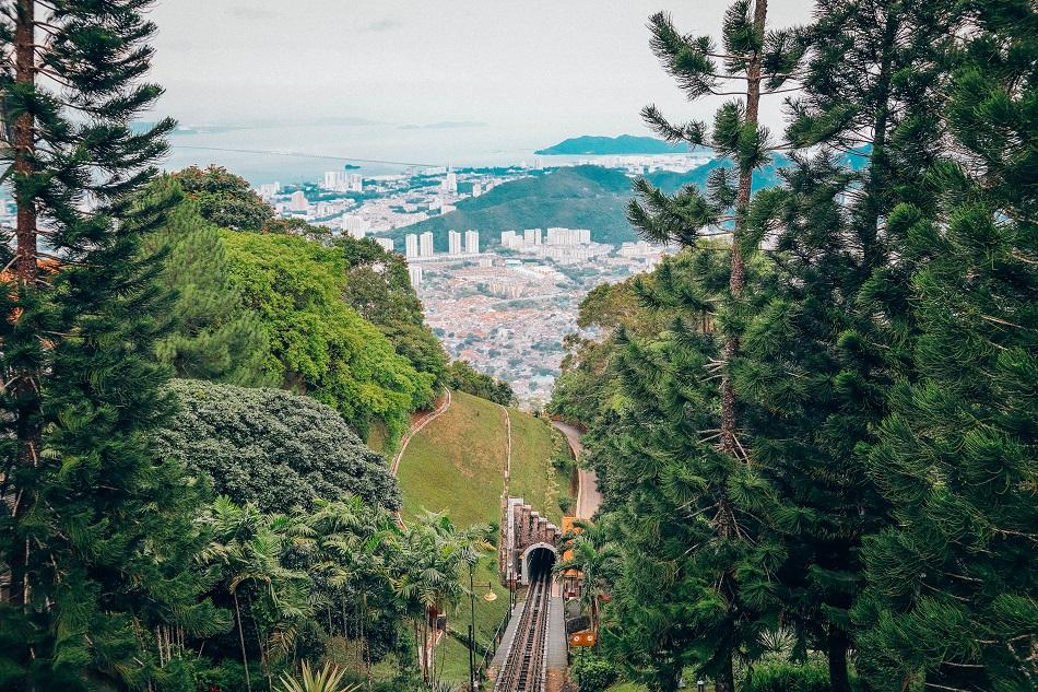 Penang Hill train view