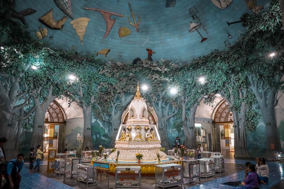 Best Yangon Temples - Maha Wizaya Pagoda