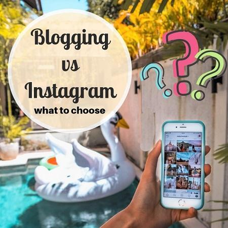 Blogging vs Instagram - which one is better in the long run - Daily