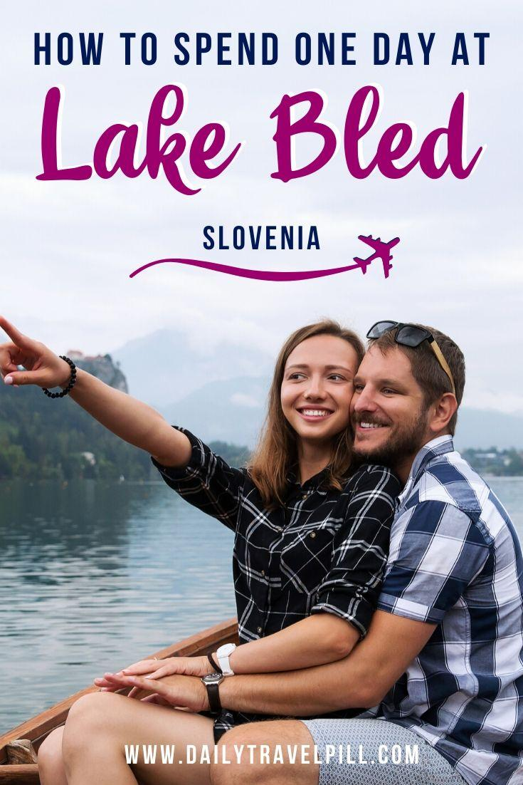 couple on a boat at Lake Bled