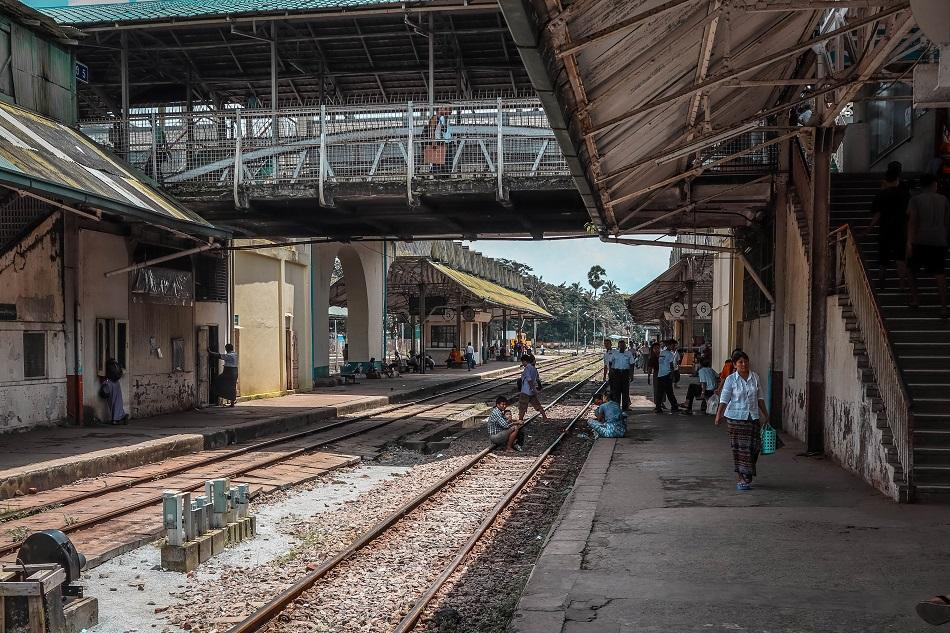 Yangon Circular Train central station