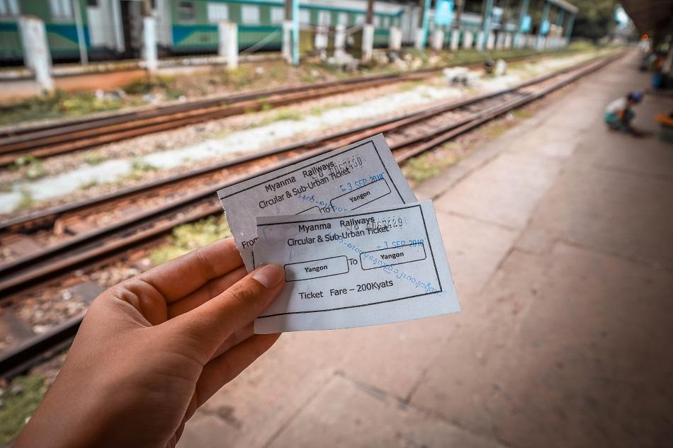 Yangon Circular Train tickets