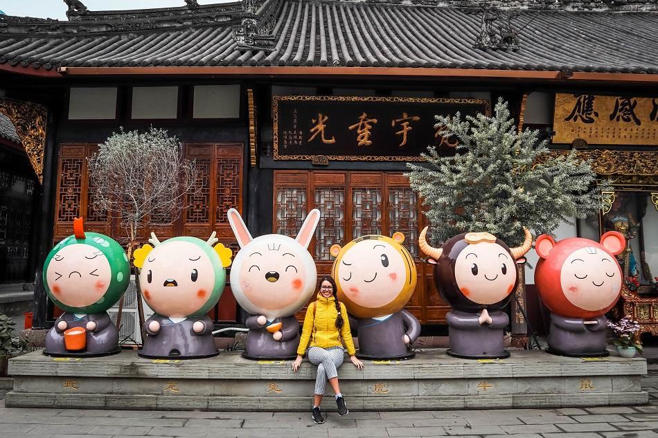 Daci Temple Chengdu Chinese zodiac statues
