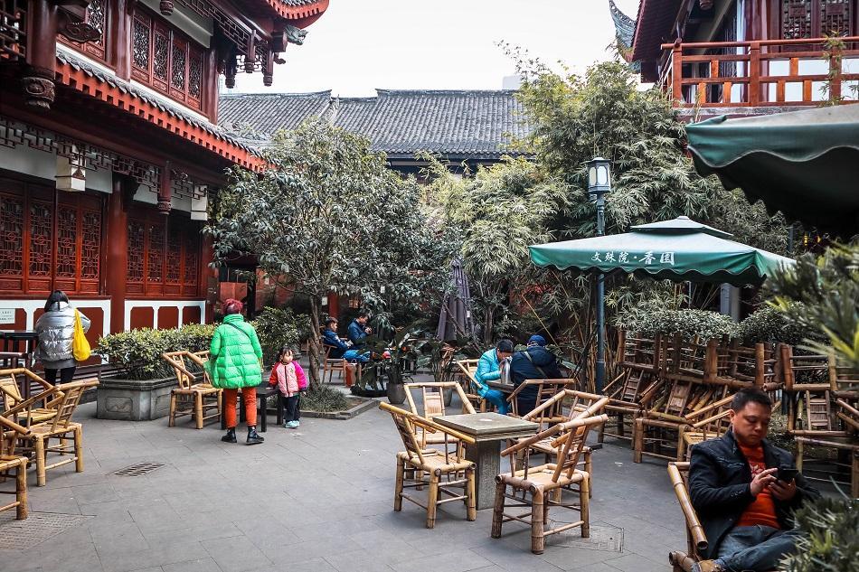 Wenshu Monastery Chengdu tea house